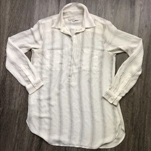 LOFT euc half button down sheer tunic size s